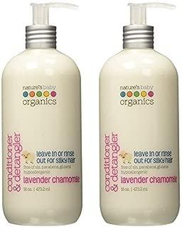 Nature's Baby Organics Conditioner & Detangler, Lavender Chamomile, 16 Fl Oz (Pack of 2)