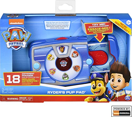 Paw Patrol, Ryder's Interactive Pup Pad with 18 Sounds and Phrases, Toy for Kids Aged 3 and up