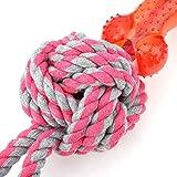 Fishawk Juguete para Perros, Juguete para Cachorros, Juguete para Limpiar los Dientes de Perro, Resistente, no tóxico para Perros, Gatos(Pink)