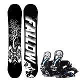 ADKINC Snowboard - Ottimo per i Principianti - all Mountain Snowboard - Neve Antiaderente - Solid Core Construction, (4 Hardness)