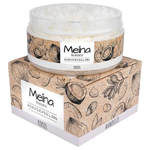 Meina Körperpeeling mit Kokos, Bio Peeling für Gesicht, Körper und Lippen, Body Scrub für Damen und Männer (1 x 280 g)