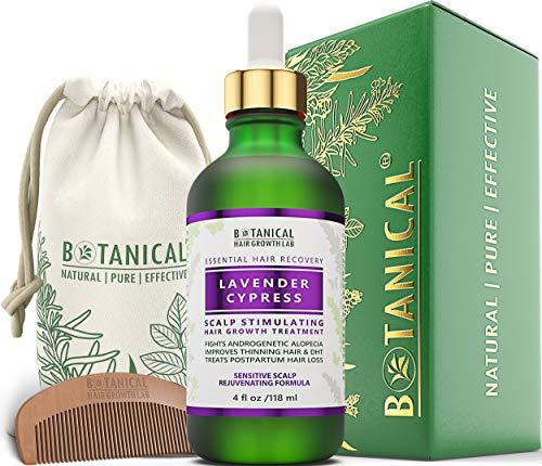 BOTANICAL HAIR GROWTH LAB - Scalp Stimulating Treatment Lavender Cypress - Sensitive Scalp / Rejuvenating - Hair Loss Prevention Alopecia Postpartum DHT Blocker - Gift Set - 4 Ounce