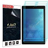 J&D Compatible para 3-Pack New Fire HD 10 Tablet 2017 Protector de Pantalla, [NO Cobertura Completa] Escudo de Película Transparente HD Protector de Pantalla para Amazon All-New Fire HD 10 Tablet 2017