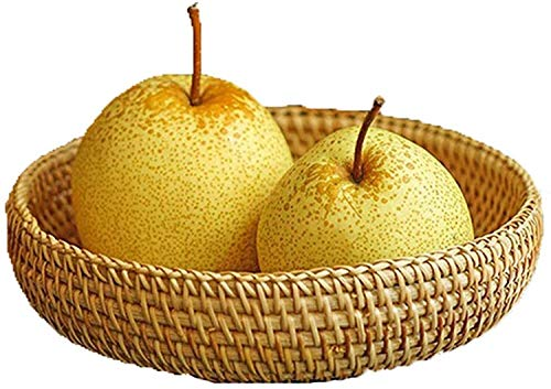 Woven Storage Basket Rattan Basket Desktop Storage Woven Basket Wicker Basket Wooden Basket Woven Basket Nut Basket Dried Fruit Basket Gift Basket Women'S Basket(Ratse) (Color : -)