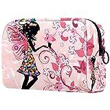 Bolso cosmético de gran capacidad del paño de Oxford del estilo encantador,Bolsa de almacenamiento portátil del bolso del cosmética,Corazón de amor rosa claro del día de San Valentín