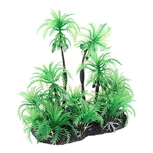 SM SunniMix Kokospalme künstliche grüne Palme Farnpalme Kunstpflanze Kunstbaum Dekoration für Terrarium und Aquarium - Typ 2