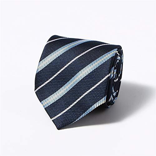 XIARUI Corbata de Hombre 8cm Ancho Classic Black Brown Plaid Floral Boda Corbatas Corbatas para Hombres Trajes Casuales Tie Gravatas Rayas Blue Neckties para Negocios Moda (Color : AS 420)