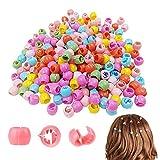 100 Piezas Agarre de Pelo de Plástico Mini Pinzas para el Cabello Coloridas Mini Clips de Pelo Mini Pinzas para el Pelo Pinzas para el Pelo con Cuentas Accesorios para Bebe Niñas Mujeres Multicolor