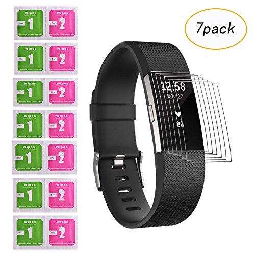 Fentace Fitbit Charge 2 Schutzfolie [7 Stück], Displayschutzfolie für Fitbit Charge 2 Anti-Blase/Anti-Fingerprint/Anti-Kratzer
