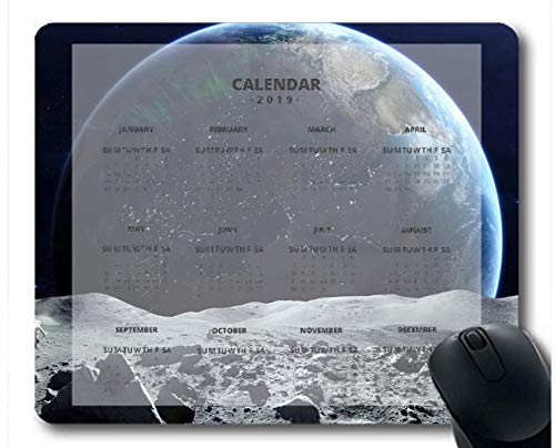 Flying Pig Man 2019 Calendar Pads,Space Space Overlooking Astronauts Planet Moon Nature Gaming Mouse mats ?Multi 39?