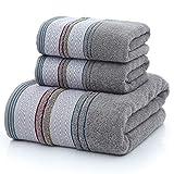 Toalla de baño toallas gruesas de algodón Set de toallas de cara de la toalla de baño for los adultos Estropajos alta absorbente baño de arena de playa Traje de toallas ( Color : Dark Grey )