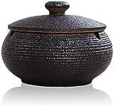 ETDWA Ceniceros de cerámica con Tapas, a Prueba de Viento, cenicero de Cigarrillos para Uso en...