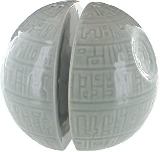 Star Wars Salt and Pepper Shakers – Death Star Ceramic Pots for Salt and Pepper Seasoning – Add a Shake of the Dark Side to Every Meal – Side by Side Stackable, A Must-Have Novelty Gift for Superfans