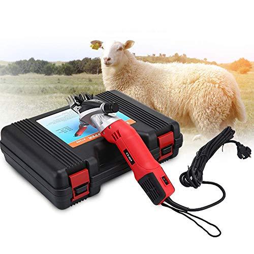 Operación de esquila de ovejas eléctrica 6 tijeras de ovejas de regulación rápida de velocidad-500W Disipación de calor eficiente Esquila de ovejas para lana en cabras de ovejas Bovinos y otros animal