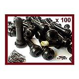 Kursport Válvulas TR414 para neumaticos (Bolsa de 100 Unidades). Especial para Llantas de Acero/Chapa, Utilidad en Coche, Furgoneta, Quad.