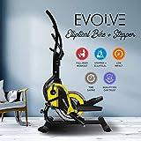 Reach Evolve Elliptical Climber Cross Trainer + Stepper | Best Exercise Fitness Equipment for Home Gym (Magnetic)