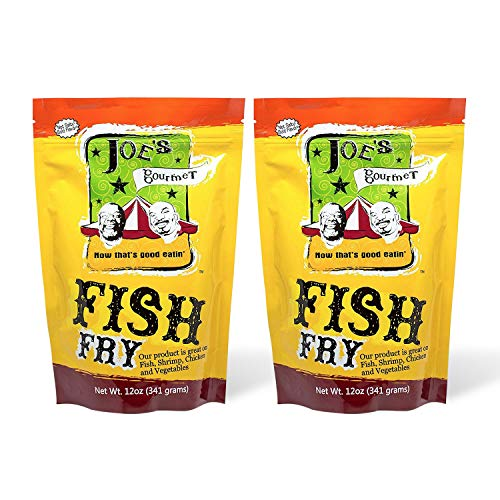 Joe's Gourmet Fish Fry, Seafood Breading Mix, As Seen on Shark Tank, Seasoned Coating Mix for Fish, Chicken, Shrimp & Vegetable, Tasty Air Fryer Breading Batter 12 Oz (Original, 2 Pack)