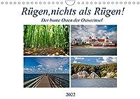 Ruegen, nichts als Ruegen! (Wandkalender 2022 DIN A4 quer): Der Osten der Ostseeinsel Ruegen in zwoelf zauberhaften Impressionen (Monatskalender, 14 Seiten )