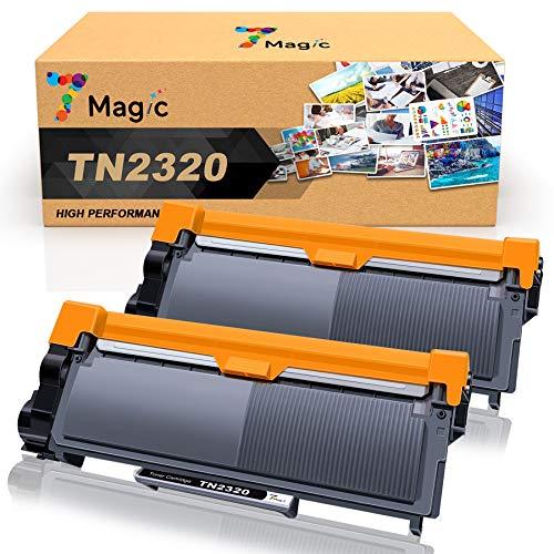 7Magic TN2320 Cartuccia Toner Compatibile per Brother TN2320 TN2310 per Brother HL-L2300D L2340DW L2360DN L2365DW DCP-L2500D L2520DW L2540DN MFC-L2700DW L2720DW L2740DW (Nero, 2 Pack)