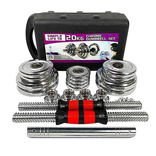 SimpleL Adjustable Dumbbells Set 44 LB / 66 LB / 110 LB Home Weight...