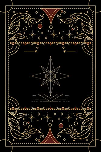 Tarot journal: A daily reading tracker and notebook: Track your 3 card draw, question, interpretation, notes: Vintage antique style black cover design