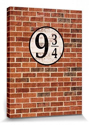 1art1 Ziegelstein-Mauern - Gleis Neundreiviertel Bilder Leinwand-Bild Auf Keilrahmen | XXL-Wandbild Poster Kunstdruck Als Leinwandbild 80 x 60 cm