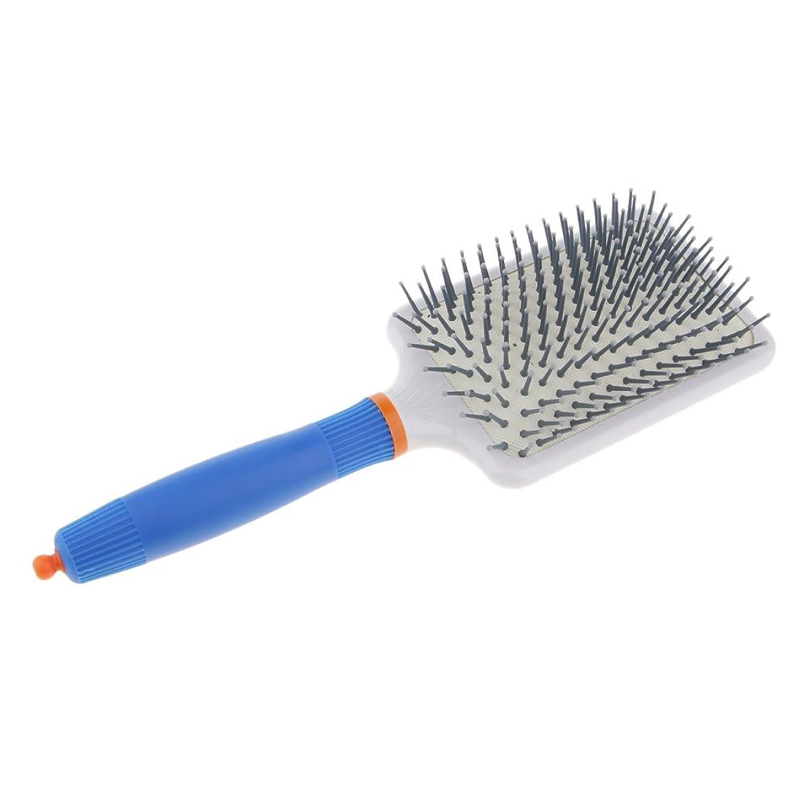 薬用寛大さ暫定のヘアブラシ くし エアバッグ 静電気防止 頭皮マッサージ 櫛 ヘアコーム 全2色 - ダークブルー