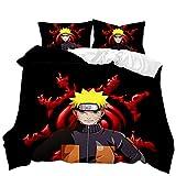 Juego de ropa de cama Naruto 3D Anime de 3 piezas (A1, 135 x 200 cm + 50 x 75 cmx2)