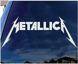 Metallica American Hard rock Metal band Logo Album cover silhouette car truck laptop window decal sticker white - Sticker ...