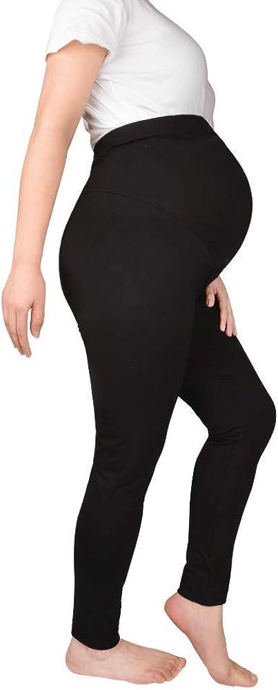 BabyBliss Over-The-Bump Maternity Leggings - Postpartum Tights for Women
