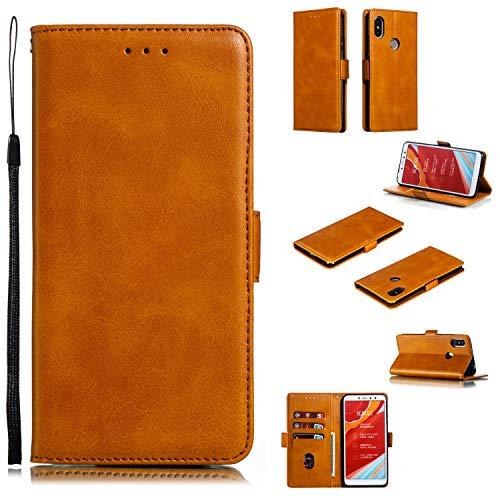Snow Color Xiaomi Redmi S2 Hülle, Premium Leder Tasche Flip Wallet Case [Standfunktion] [Kartenfächern] PU-Leder Schutzhülle Brieftasche Handyhülle für Xiaomi Redmi S2 / Y2 - COYKB010712 Gelb