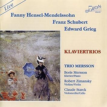Fanny Hensel-Mendhelssohn, Schubert & Crieg: Klaviertrios
