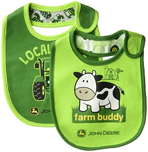 John Deere Baby Bib, green, ONE SIZE