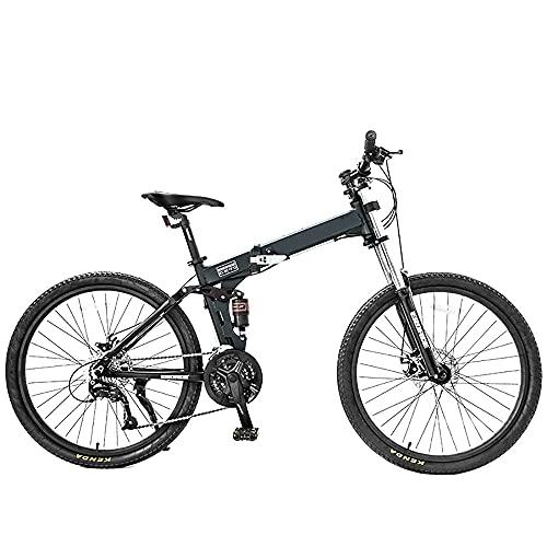 DODOBD Bicicletta Pieghevole per Adulti, Mountain Bike da 26 Pollici Biciclette da Fuoristrada Pieghevoli Variabile a 27 velocità Bicicletta Portatile Durevole Bici da Città