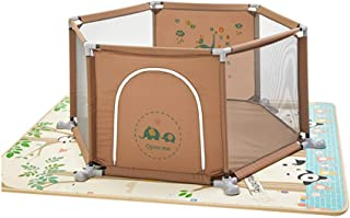 Xuan Yuan Safety Fence, Children's Toddler Fence with Crawling Mat, Home Play Fence, Children's Indoor Playground Baby Play Fence (Color : A, Size : Mat Thick 1 cm)