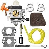 Powtol C1Q-S174 Carburetor C1Q-S131 for FS87 FS90 FS100 FS110 FS130 HL90 HL95 HL100 HT100 HT101 KM90 KM100 KM110 SP90 Carb Trimmer 4180-120-0610 4180-120-0611