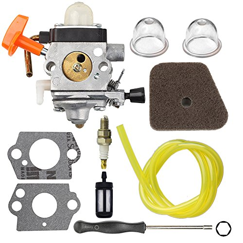 Powtol C1Q-S174 FS90R Carburetor C1Q-S131 for STHIL FS87 FS90 FS100 FS110 FS130 HL90 HL95 HL100 HT100 HT101 KM90 KM100 KM110 SP90 Carb Trimmer with Tune Up Kit