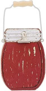 Distinctive Designs Decorative Wooden Mason Jar Wall Plaque with Clipboard (Red)