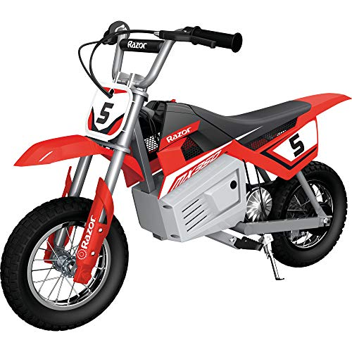 Razor MX350 Dirt Rocket Kids Ride On 24V Electric Toy Motocross Motorcycle Dirt Bike, Speeds up to 14 MPH, Red