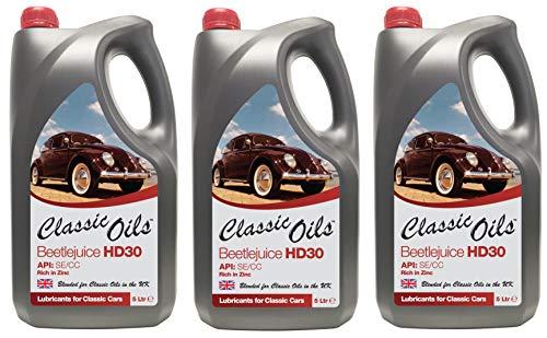 Klassieke oliën bietensap HD30, motorolie voor luchtgekoelde VW, 15 liter