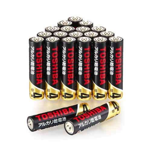 【Amazon限定】 東芝 アルカリZ 10年保存 アルカリ乾電池 単4形 20本パック LR03Z 20P
