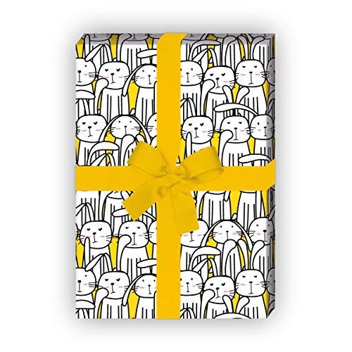 Kartenkaufrausch Lustiges Oster Geschenkpapier Set 4 Bogen,