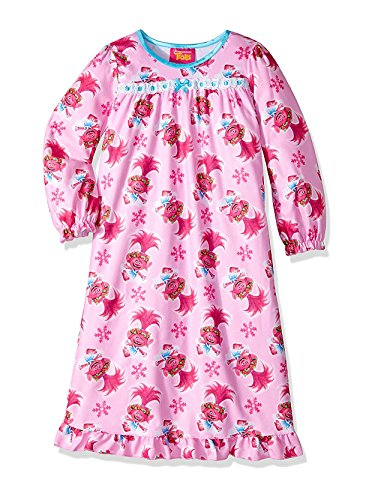 Trolls Girls' Toddler Granny Nightgown, Baby Pink, 2T
