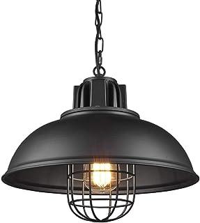 Araña clásica de metal industrial retro negro, cable ajustable, muy adecuada para comedor, sala de estar, dormitorio, comedor, cafetería y bar (para bombillas E27)