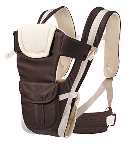 AnciTac Baby Carrier Backpack 4 Carrying Positions Ergonomic Sling Carrier for Infants and Toddlers Soft and Comfortable Child Carriers, Baby Shower Gift(Khaki)