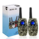 Retevis RT628 Walkie Talkies for Kids,22 Channels 2 Way Radio Long Range Kid Gift Toy with LCD Display,Army Toys for Outdoor Adventure Game Camp Hunt Trip(1 Pair,Camouflage)