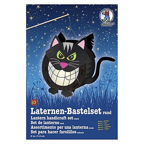 Ursus Laternen-Bastelset, ca. 21,8 cm breit, 21 cm hoch, 10,3 cm tief (nur Bastelset, Katze)