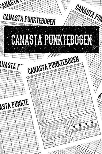 Canasta Punktebogen: Spielblock, Block mit 100 Blatt, Größe 6x9 Zoll (ca. A5)