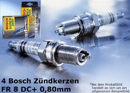 4 pezzi Bosch candele di accensione Super plus FR8DC+