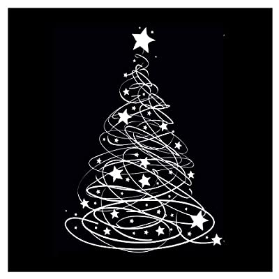 Swishy Tree Christmas Window Cling Sticker by Stickers4